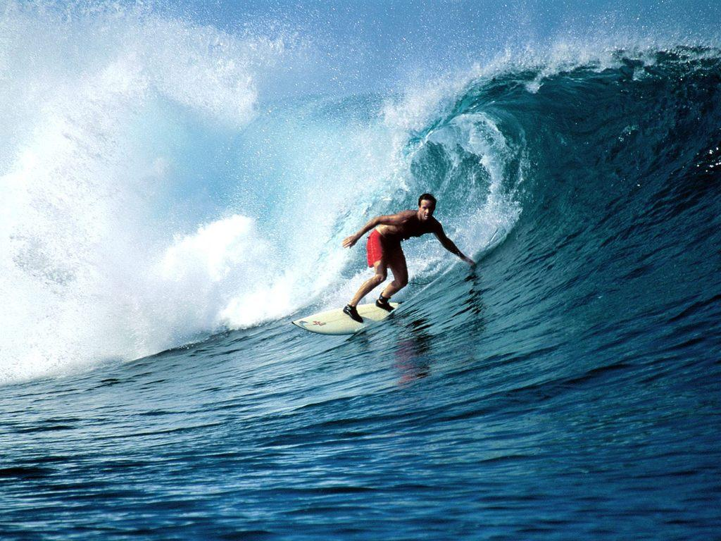 large wave surfer